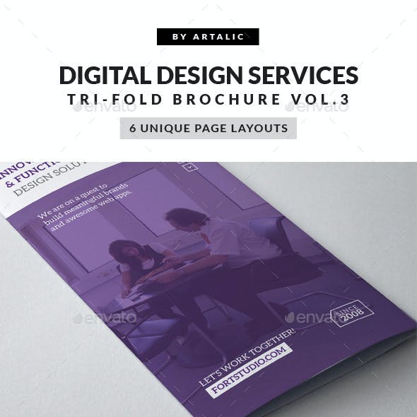 Web App Graphic Design Brochure