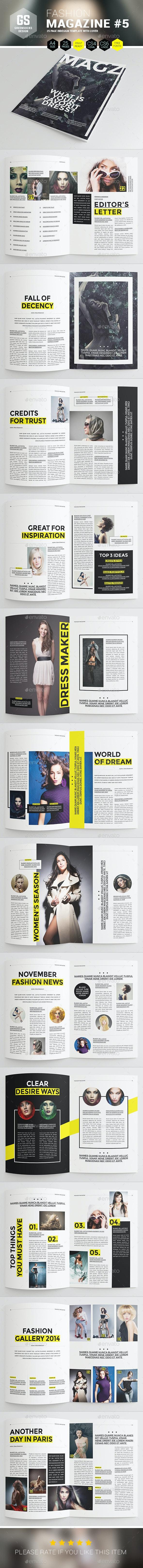 Fashion Magazine #5 - Magazines Print Templates