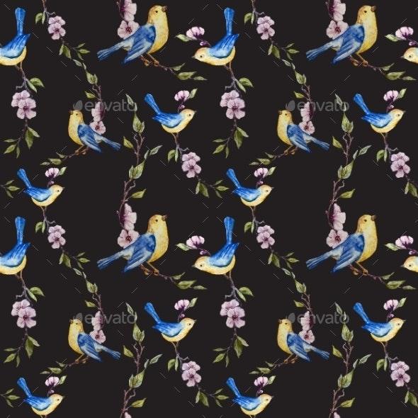 Bird Pattern - Flowers & Plants Nature