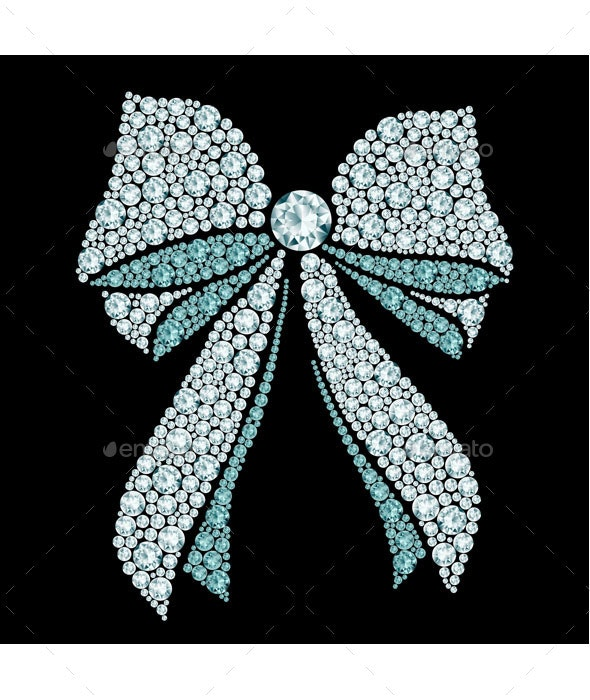 Diamond Bow - Decorative Vectors