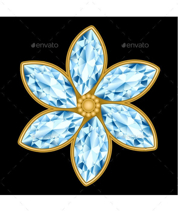 Flower Gemstone - Decorative Vectors