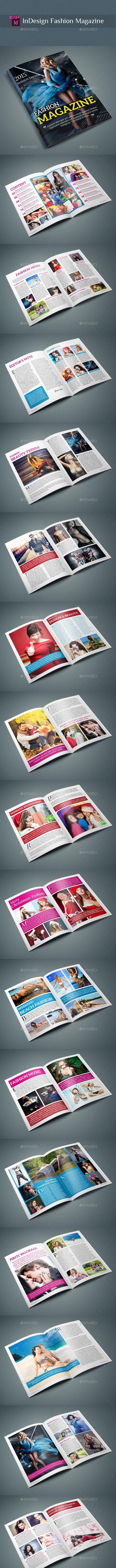 InDesign Fashion Magazine - Magazines Print Templates