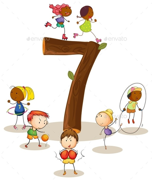 Number 7 - People Characters