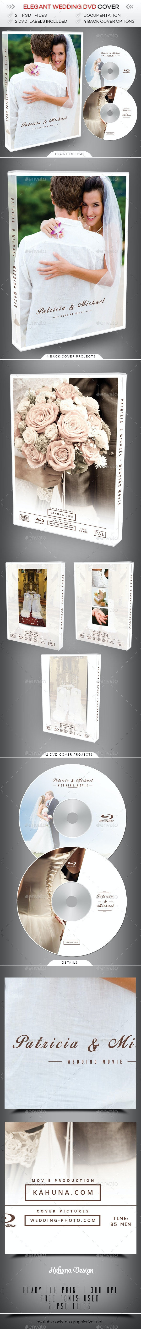 Wedding DVD Cover 3 - CD & DVD Artwork Print Templates