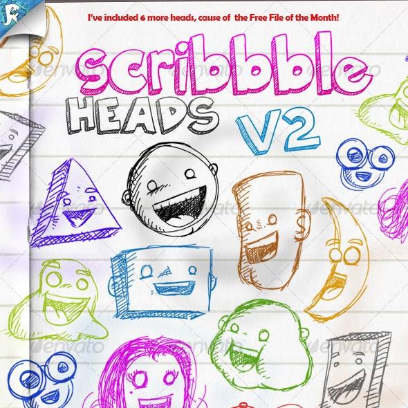 Scribble Heads - Vector Pack