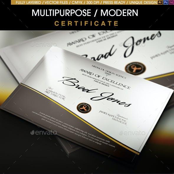 Multipurpose Modern Certificate v.5 (All Formats)