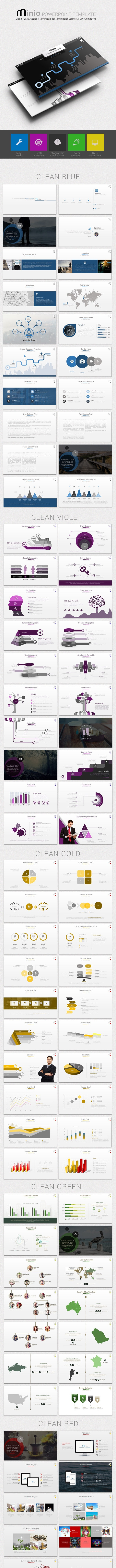 Minio PowerPoint Presentation Template - Business PowerPoint Templates