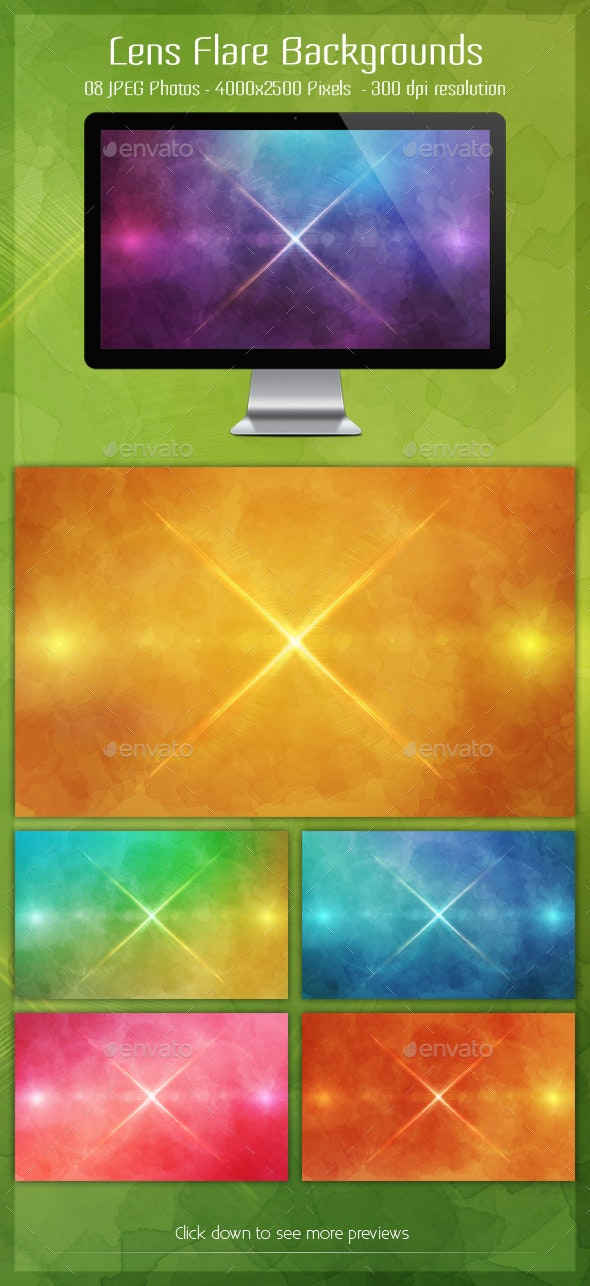 Lens Flare Backgrounds - Backgrounds Graphics