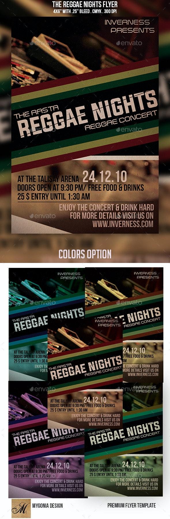 Reggae Nights Flyer - Events Flyers