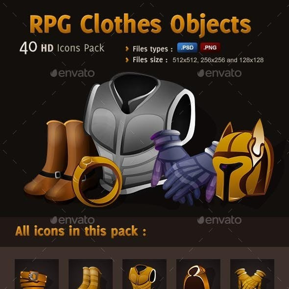RPG Icons Pack - Clothes Objects