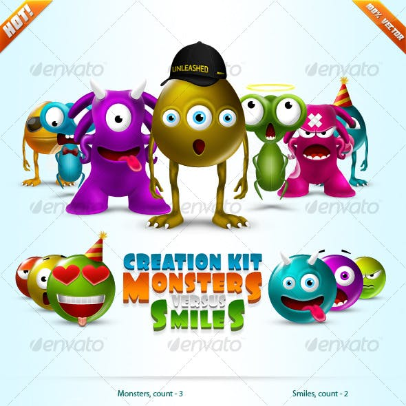 Monsters vs Smiles - Super Creation Kit