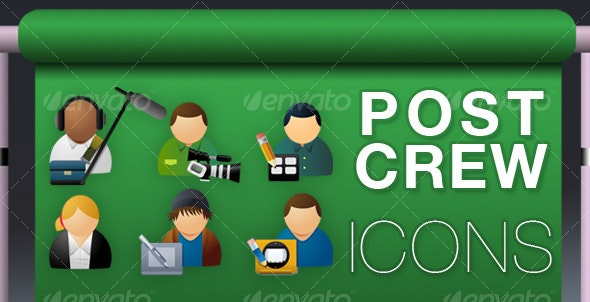 Production Crew Icons - People Characters