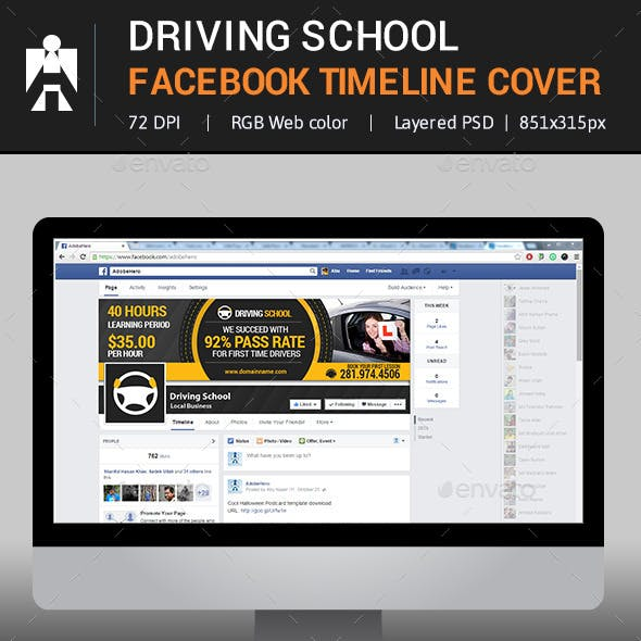 Driving School Facebook Timeline Cover