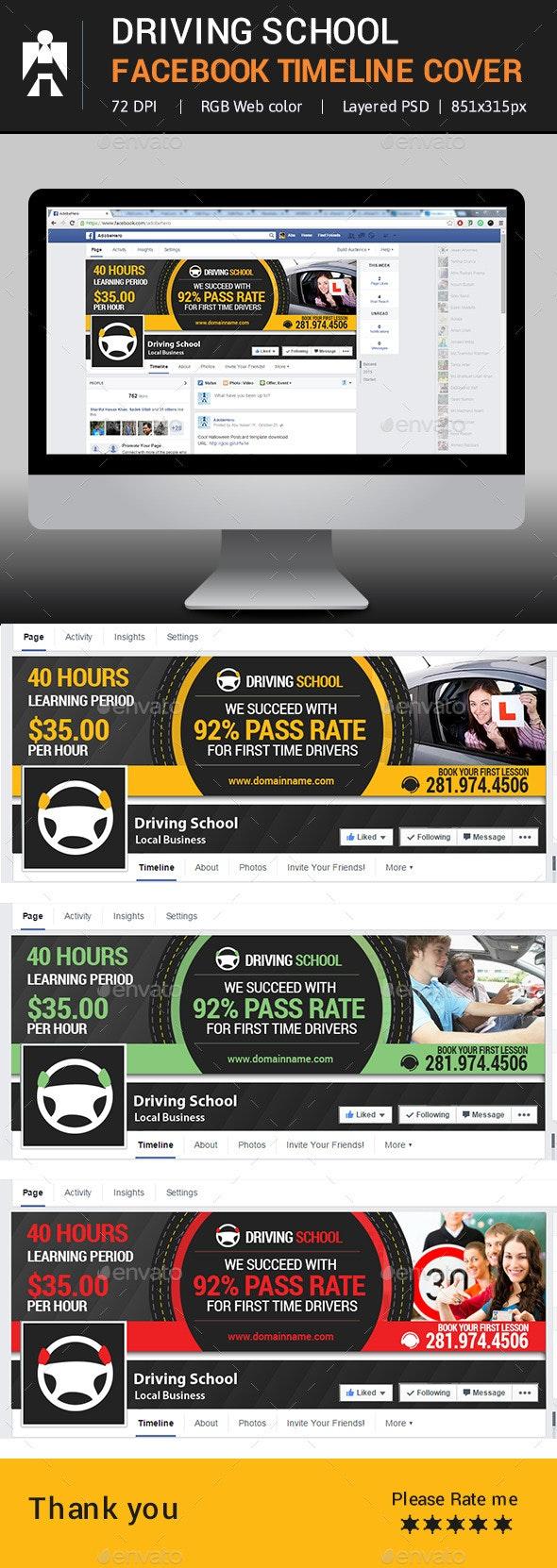 Driving School Facebook Timeline Cover - Facebook Timeline Covers Social Media