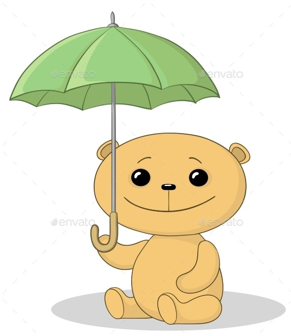 Teddy Bear and Umbrella - Animals Characters