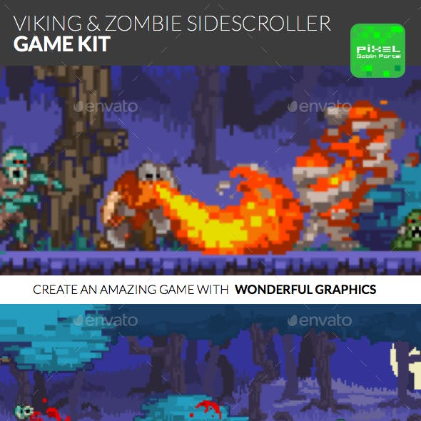 Viking & Zombie Sidescroller