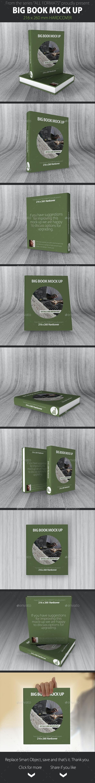 Book Mockup 216 x 260 mm Hardcover - Books Print