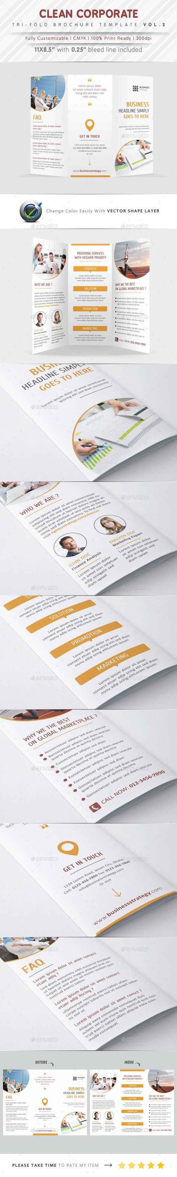 Clean Corporate Tri Fold Vol.2 - Corporate Brochures