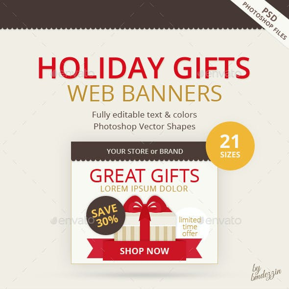 Holiday Gifts Web Banners