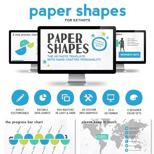 Paper Shapes Keynote Presentation Template