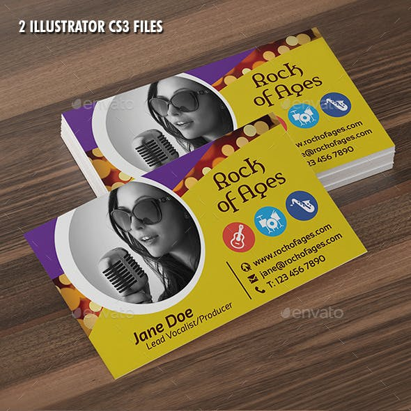 Vocalist or Producer Business Card Template