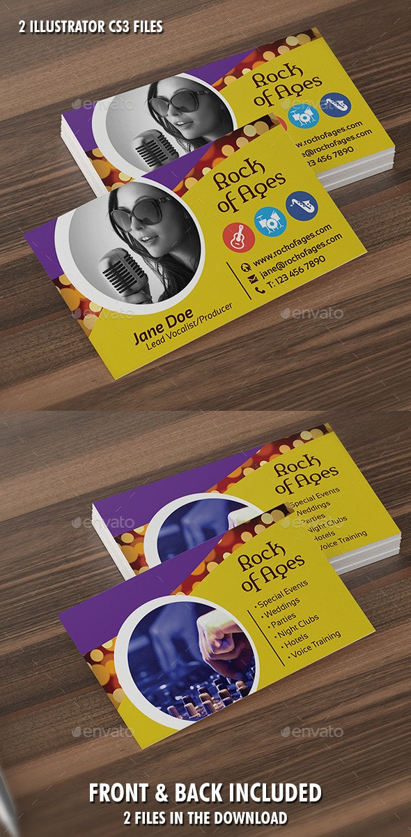 Vocalist or Producer Business Card Template - Industry Specific Business Cards