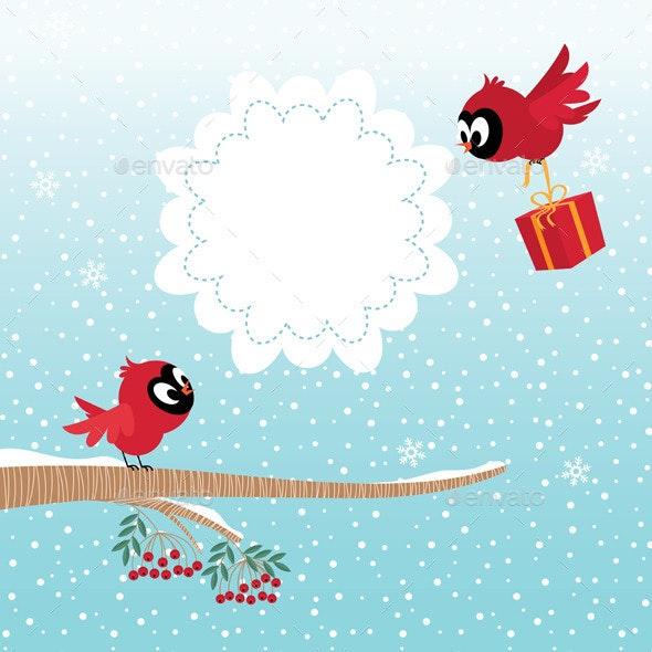 Birds in Winter - Seasons/Holidays Conceptual