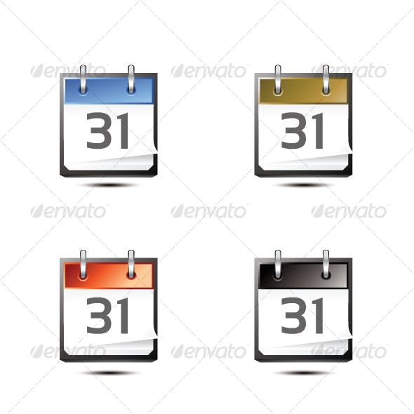 Calendar Icons Pack of 6