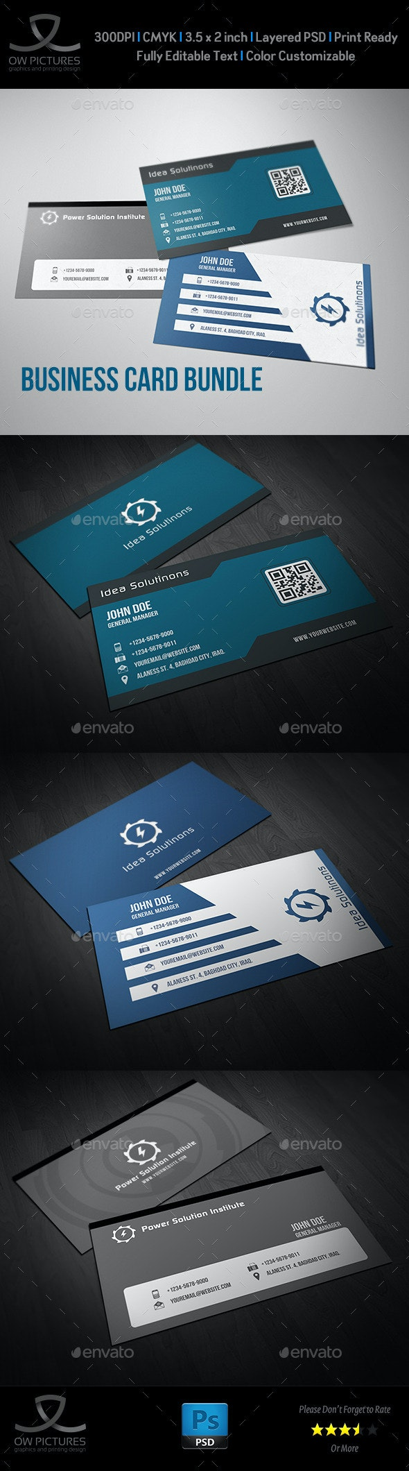 Corporate Business Card Bundle Vol.6 - Corporate Business Cards