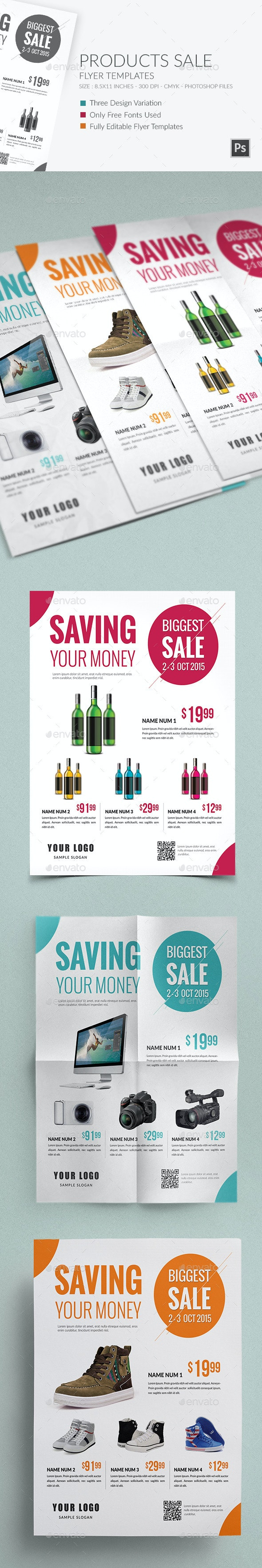 Products Sale Flyer Template - Miscellaneous Events