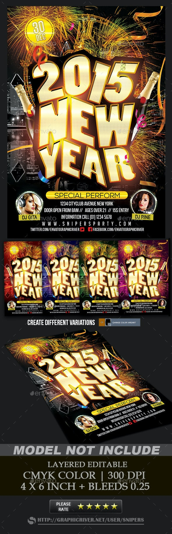 2015 New Year Party - Events Flyers