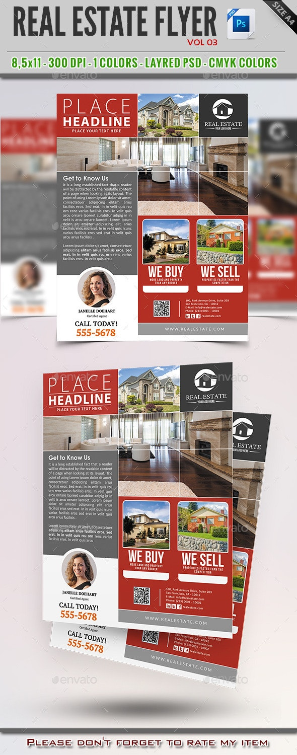 Real Estate Flyer Vol 03 - Commerce Flyers