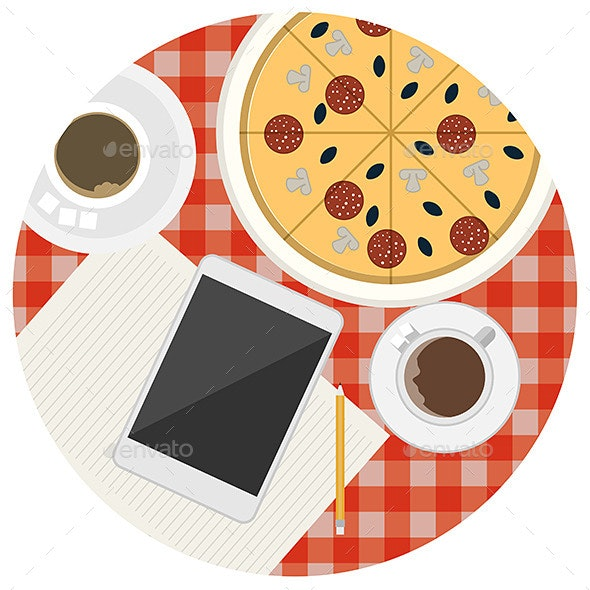 Lunch Table - Food Objects
