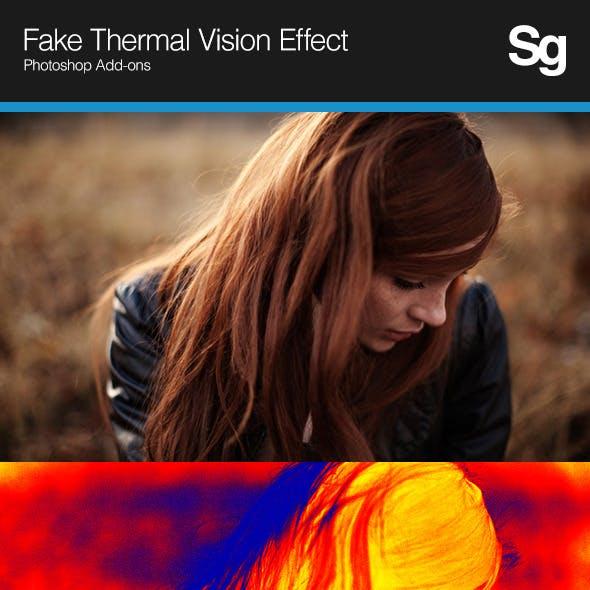 Fake Thermal Vision Effect
