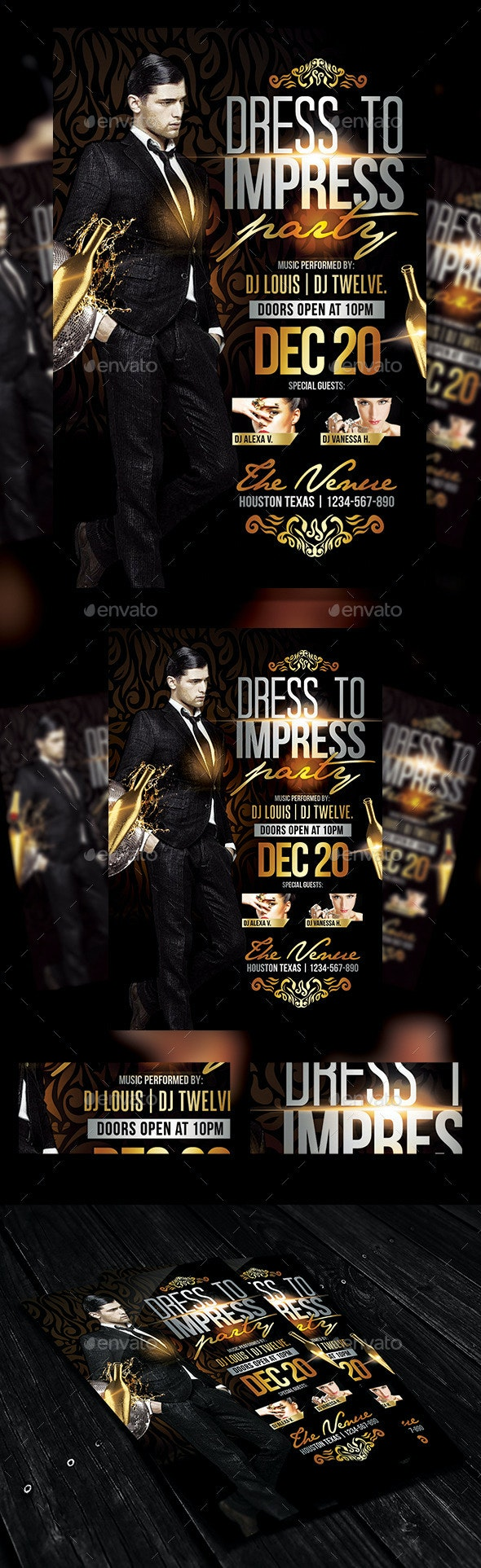 Dress to Impress | Flyer Template - Clubs & Parties Events