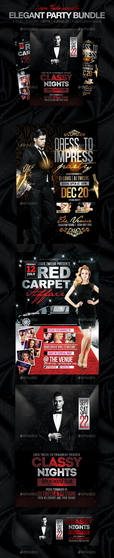 Elegant Party Flyer Bundle - Clubs & Parties Events