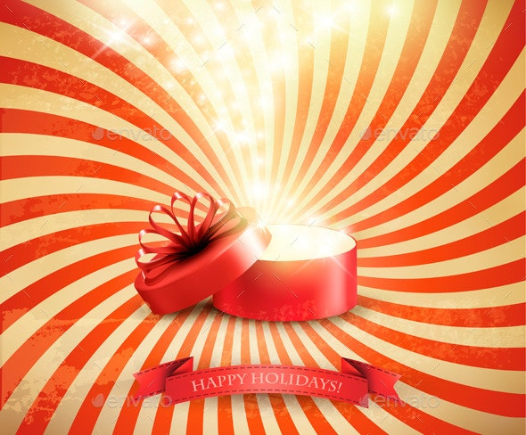 Retro Christmas Holiday Background  - Christmas Seasons/Holidays