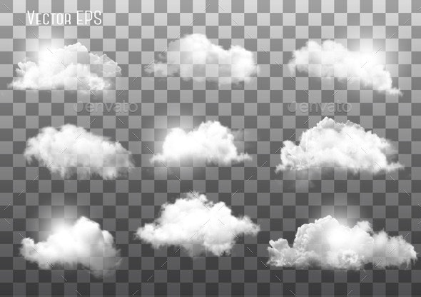Clouds on Transparent Background - Nature Conceptual
