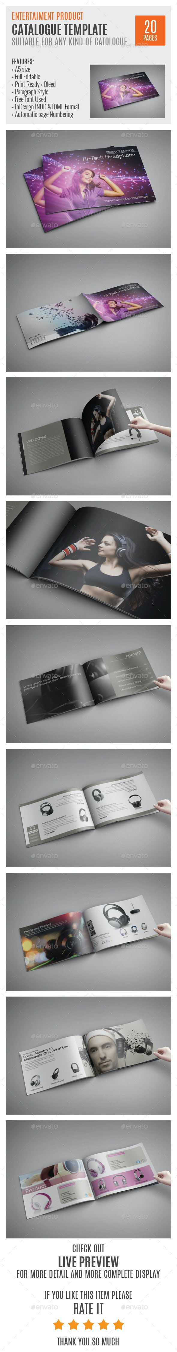 Entertaiment-Product-A5-Indesign-Catalog - Catalogs Brochures