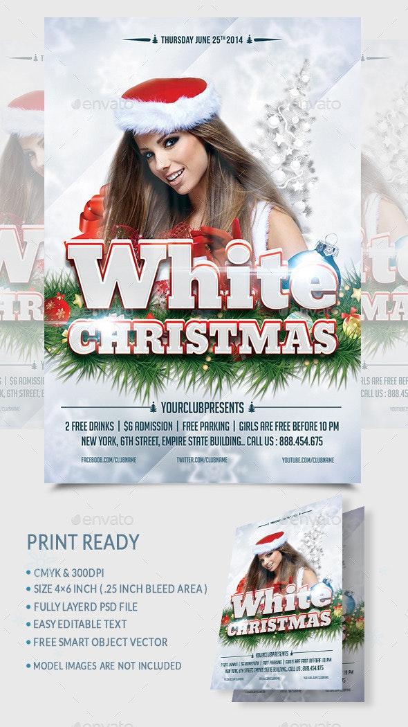 White Christmas Flyer - Print Templates
