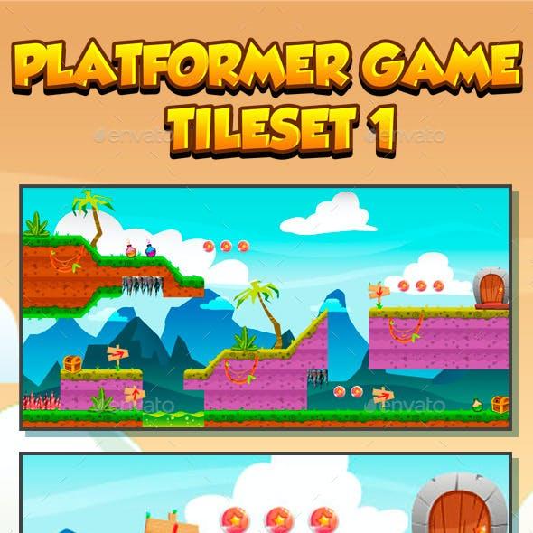 Platformer Game Tile set Collection Series 1