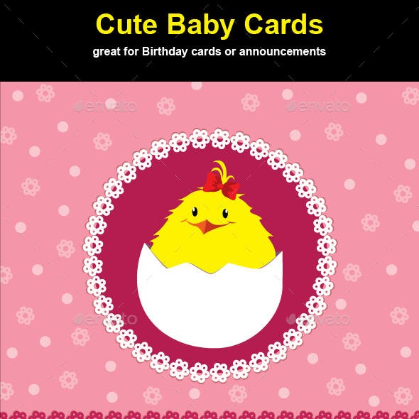 Cute Chick Baby Cards