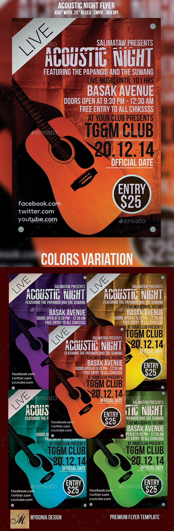 Acoustic Night Flyer - Events Flyers