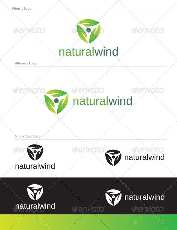 Natural Wind Logo Design - NAT-002 - Nature Logo Templates