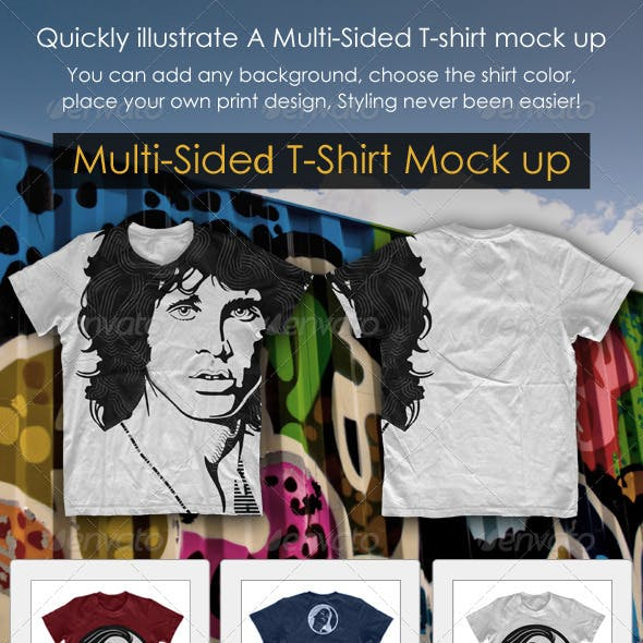 Multi-Sided T-Shirt Mock-Up