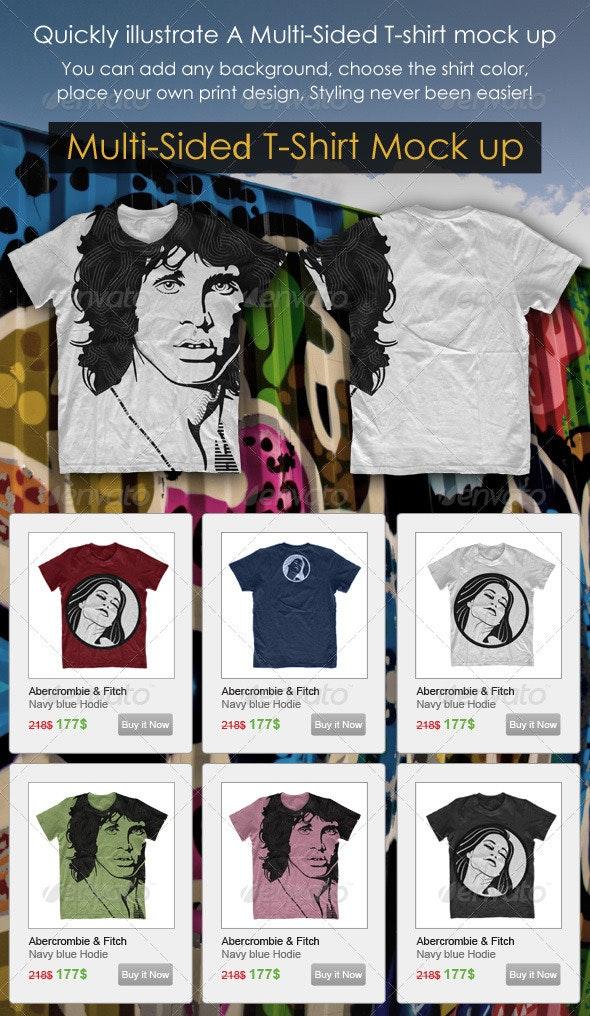 Multi-Sided T-Shirt Mock-Up - T-shirts Apparel