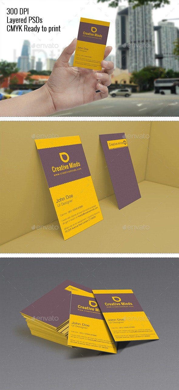 Dune - Artistic Simple Vertical Business Card - Creative Business Cards