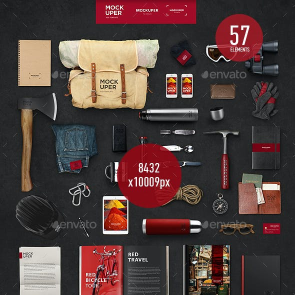 Travel Brutal Branding Mock-Up (PSD)