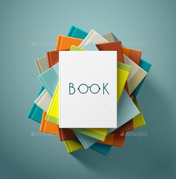 Stack of Books - Objects Vectors