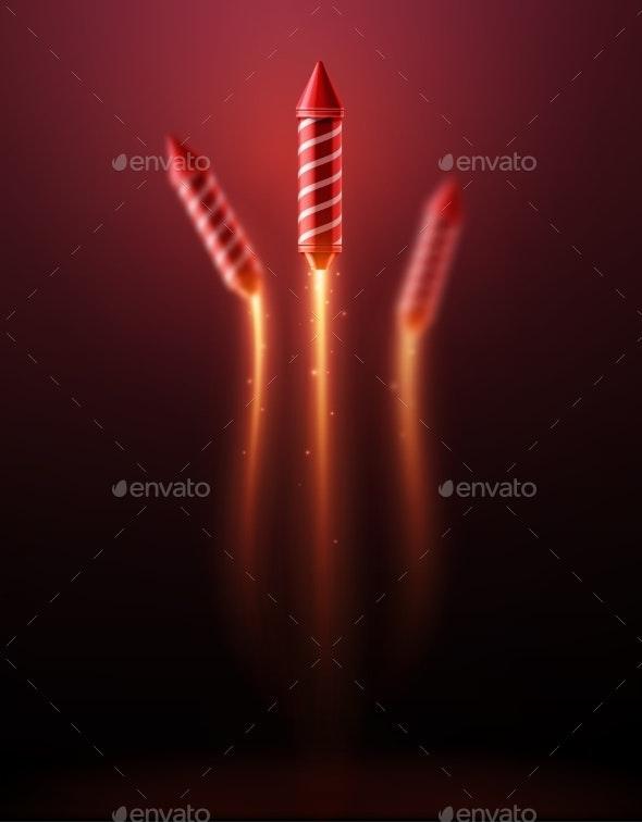 Fireworks Rocket - Seasons/Holidays Conceptual